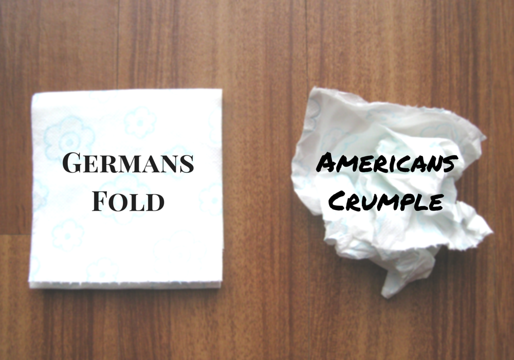 Toilet paper: Germans fold, Americans crumple