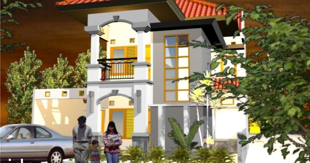 01 ilustrasi desain rumah 2 lantai type 115 di