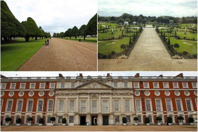Jardines del Palacio de Hampton Court y edificio, Londres