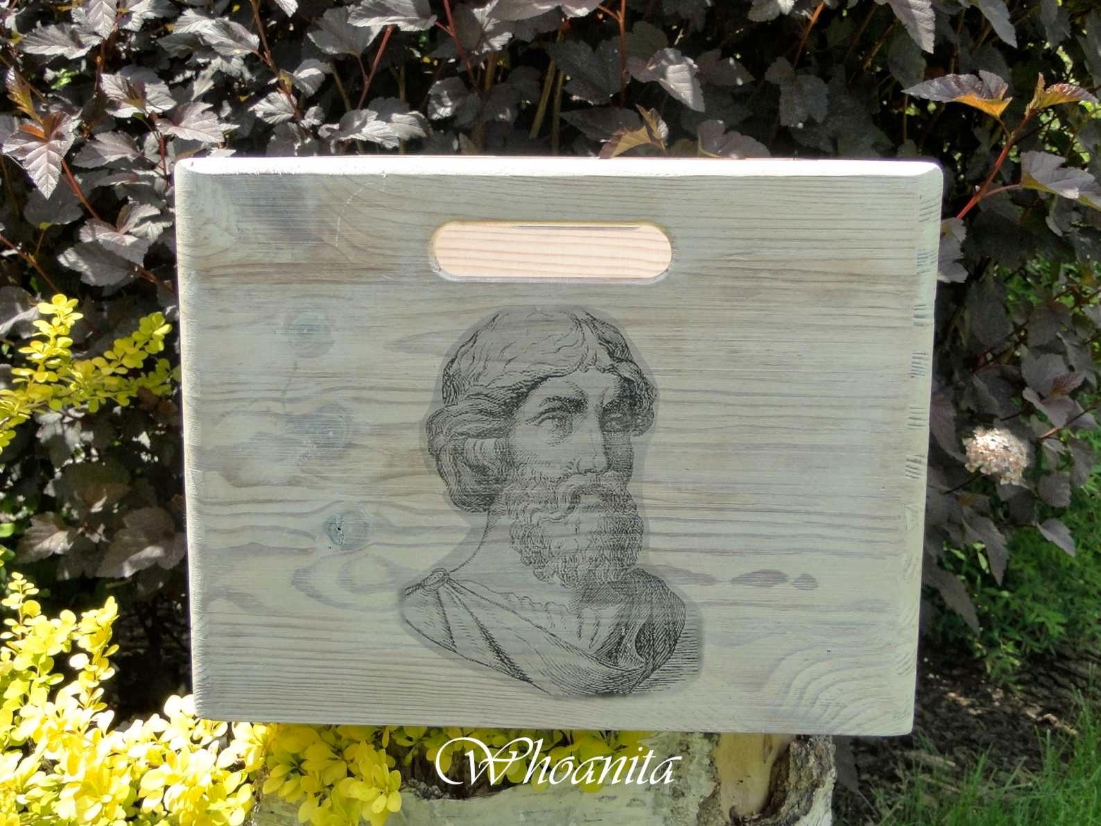 drewniana skrzynia Pitagorasa, transfer