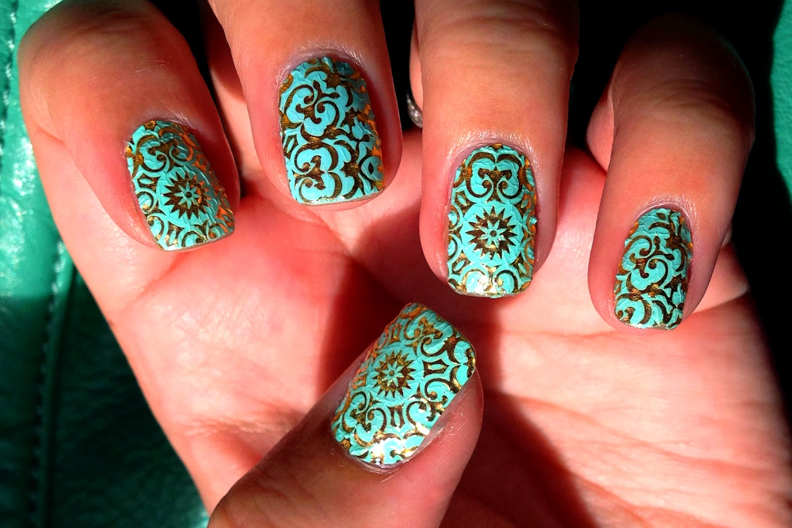 Not Your Average Ashley: Marchesa Nails in 24K Brocade