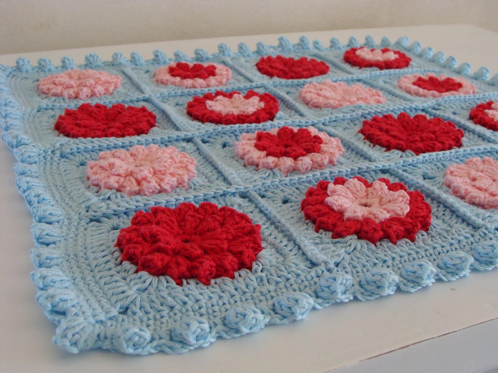 Crochet Popcorn Stitch Tutorial : Twolittlebirds: Popcorn stitch crochet edging tutorial