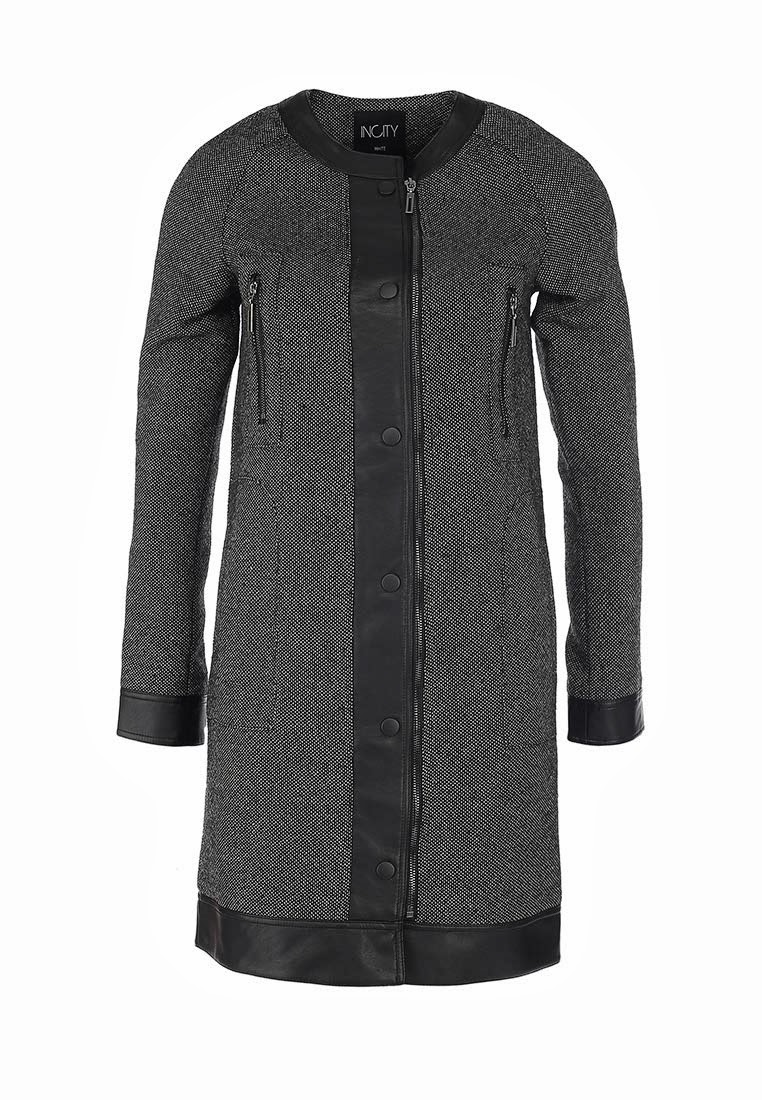 Женское драповое пальто incity демисезон