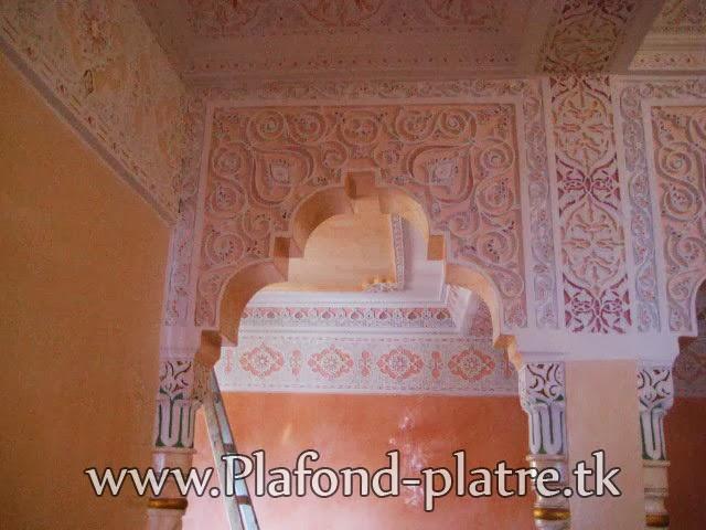 Boutique salon marocain 2016 2017 plafond sculpte for Platre sculpte marocain