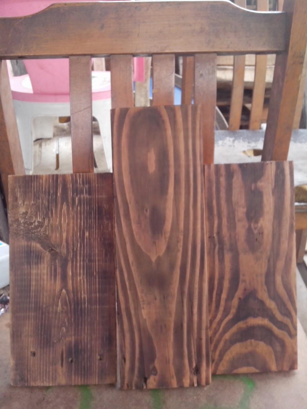 kayu jati belanda, kayu jati belanda finishing bakar, kayu jati belanda efek bakar, urat kayu jati belanda
