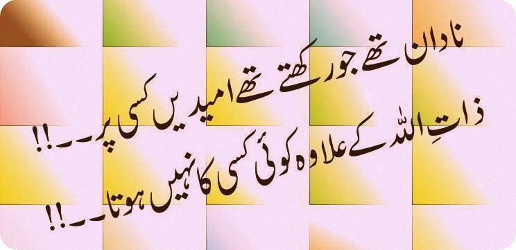 naadan the jo rakhte the umeedain kisi par   islamic poetry   urdu sad poetry