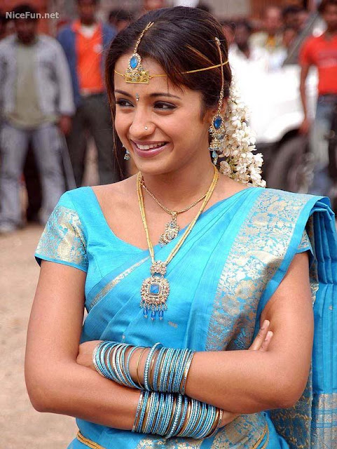 Latest Trisha Krishnan In Saree
