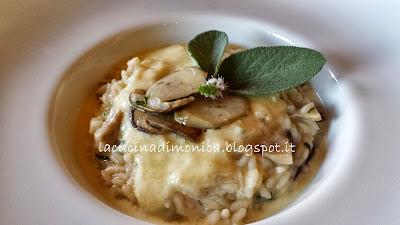 risotto con porcini e fonduta di formaggio