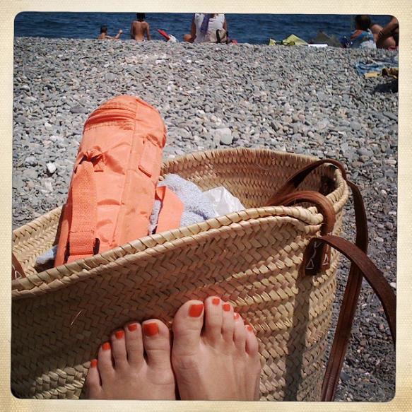 feets at the beach