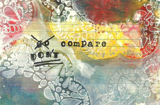 Whoopidooings: Carmen Wing: ICAD Index Card A Day 2013: Day 2 - Don't Compare