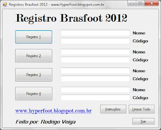 Baixar Keygen para brasfoot 2012, download do keygen do brasfoot 2012, gerador de registros do bf12, registro grátis sem vírus, baixar sem protetor de link