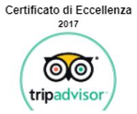Certificato di eccellenza 2017 Tripadvisor