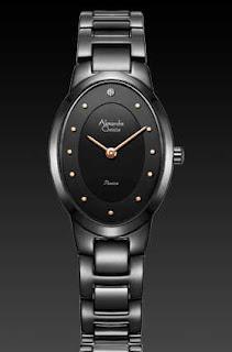 jam tangan alexandre christie original fullblack
