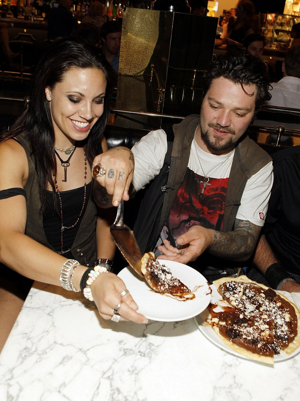 Photo of Bam Margera & his friend  Nikki B