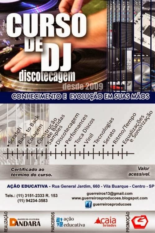 CURSO DE DJ DISCOTECAGEM