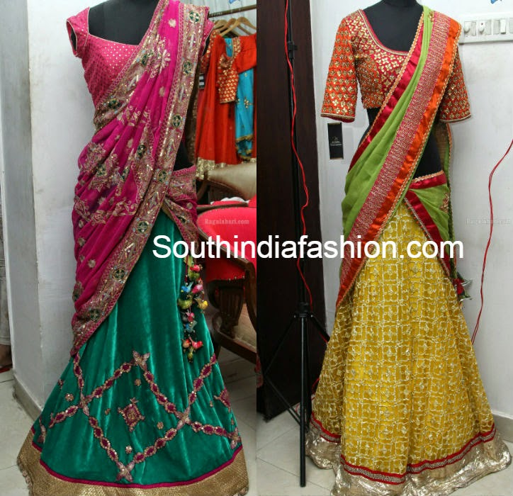 party wear designer half sarees