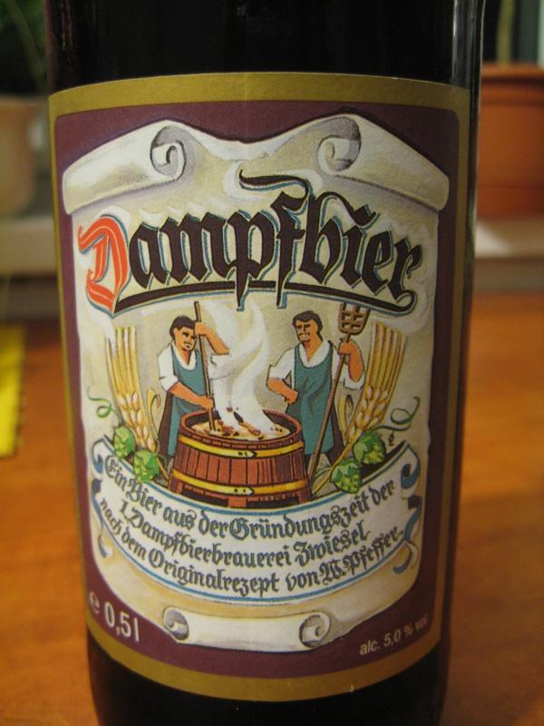 Sörök bemutatója, tesztje: Zwiesel Dampfbier 5%