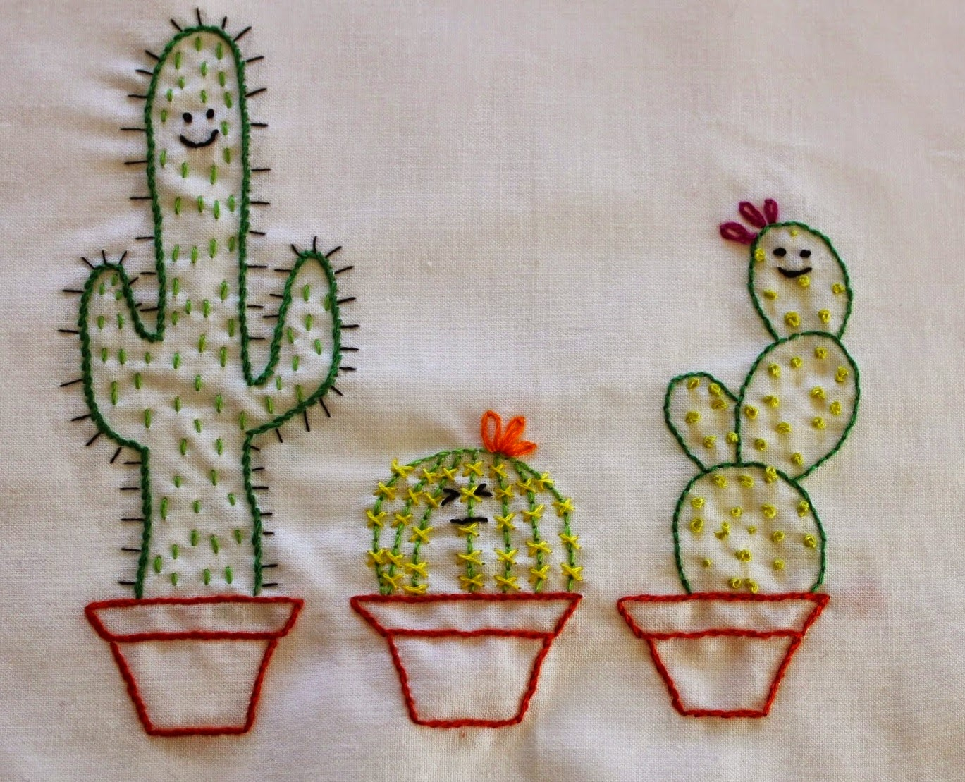 Sewpsyched cacti embroidery patterns