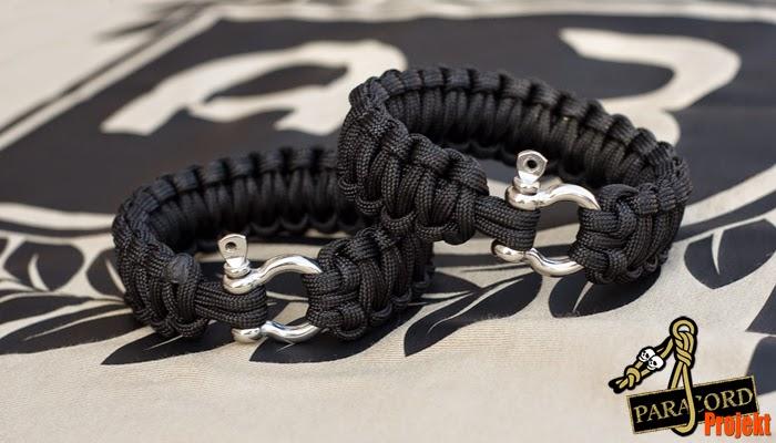Bransoleta survivalowa z szeklą omega Survival Bracelet with Shackle