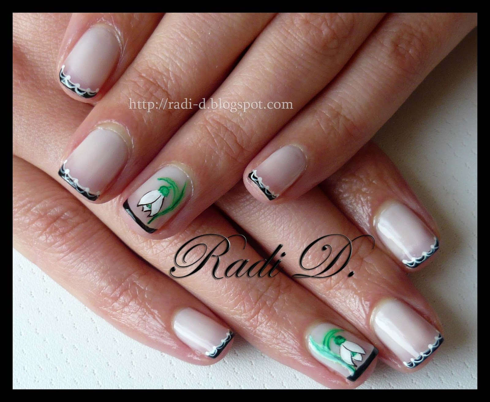 It`s all about nails: Black french on natural nails