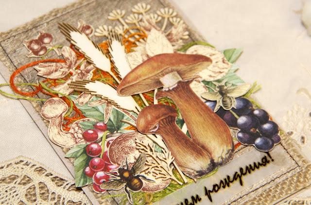 Грибы и ягоды открытки