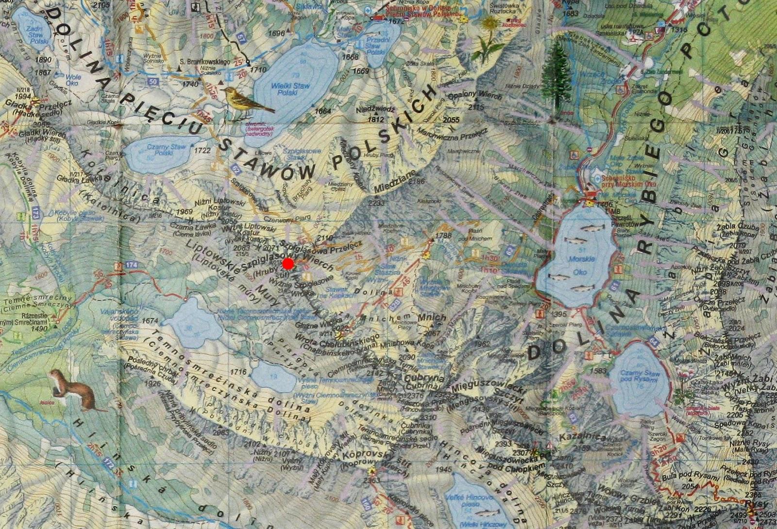 Szpiglasowy Wierch na mapie