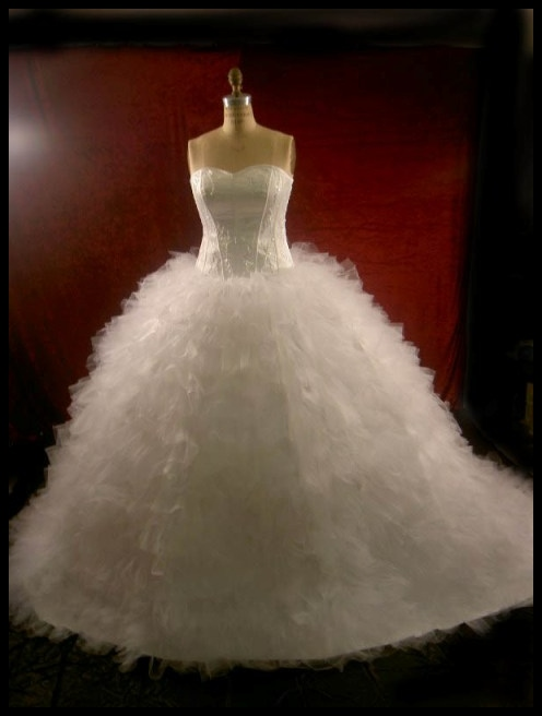 Puffy White Wedding Dress Designs Ideas Posted by Wedding Dress at 1149 AM