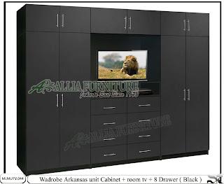 Lemari tipe minimalis tv unit Arkansas - www.alliafurniture.com