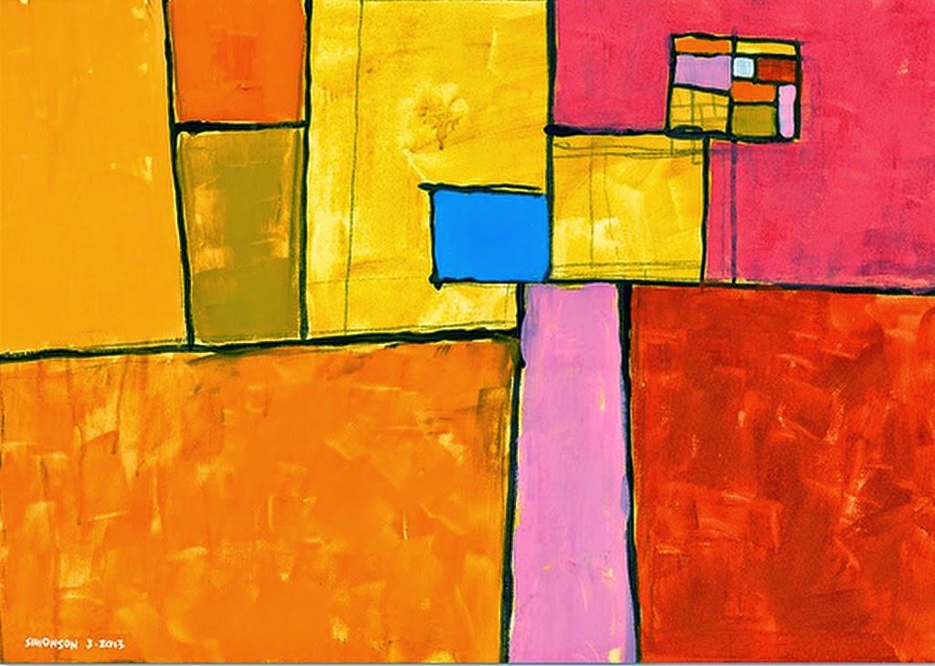 Cuadros pinturas oleos obras abstractas f ciles for Fotos de cuadros abstractos sencillos