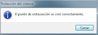 Cómo crear un punto de restauración Windows 7 - Paso 6