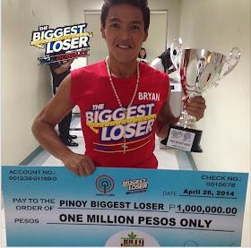 Bryan Castillo is Pinoy Biggest Loser 2014 winner