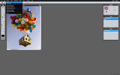 Pixlr Image menu