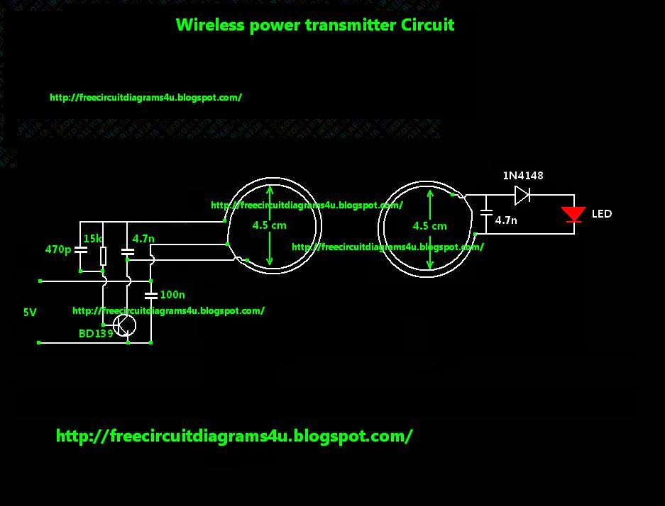 Wireless Electricity Transmission Circuit Diagram | Cool Electronic Circuits Wireless Power Transmitter Circuito