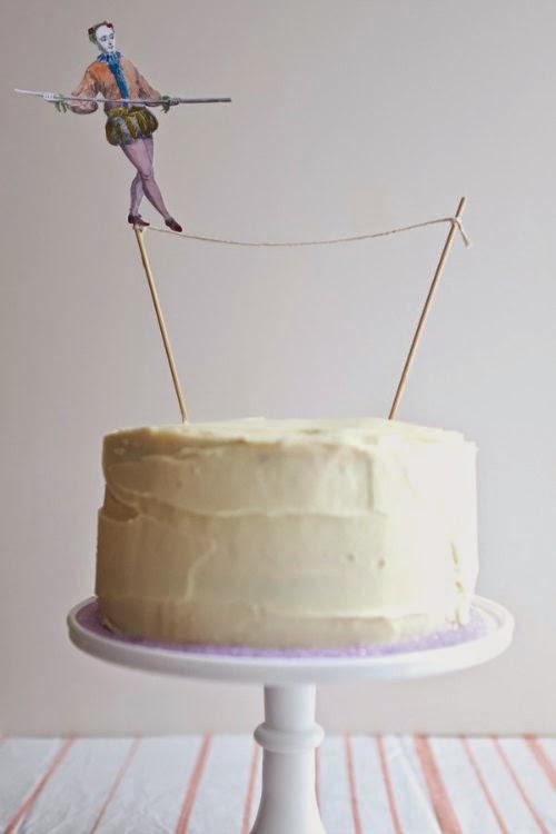 Cake topper equilibrista circo