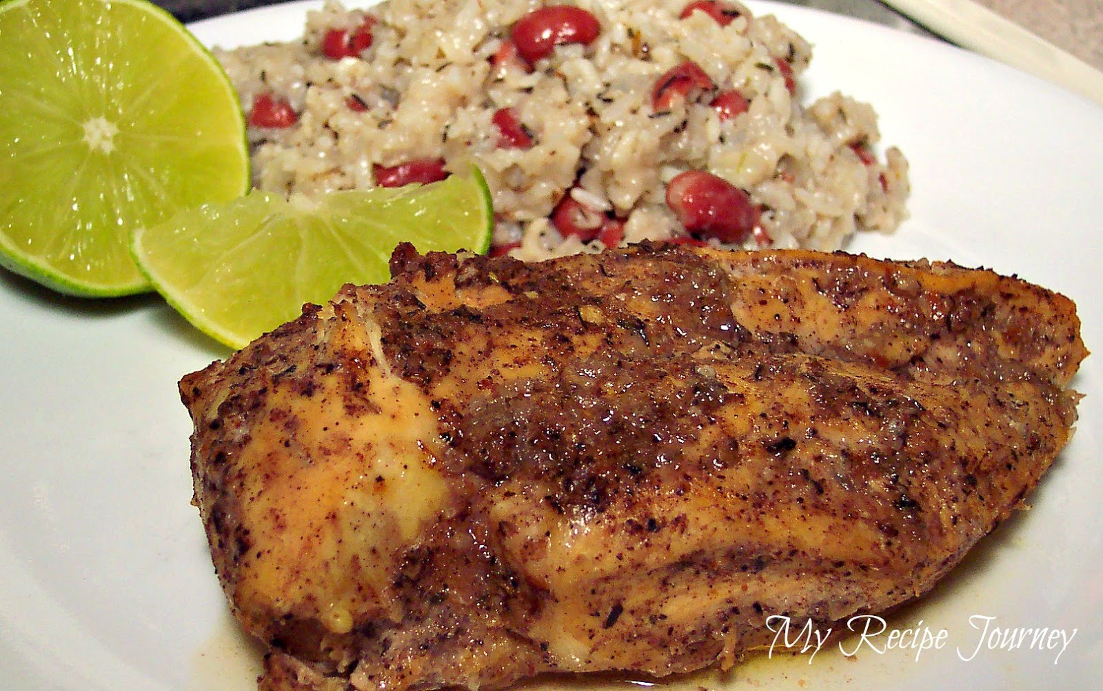 My Recipe Journey: Jerk Chicken with Coconut Rice & Beans...Plus a ...