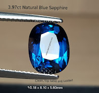 3,97ct Greenish Blue CLEAN!