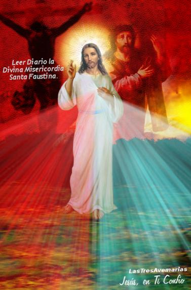 Divina misericordia en fondo nuevo