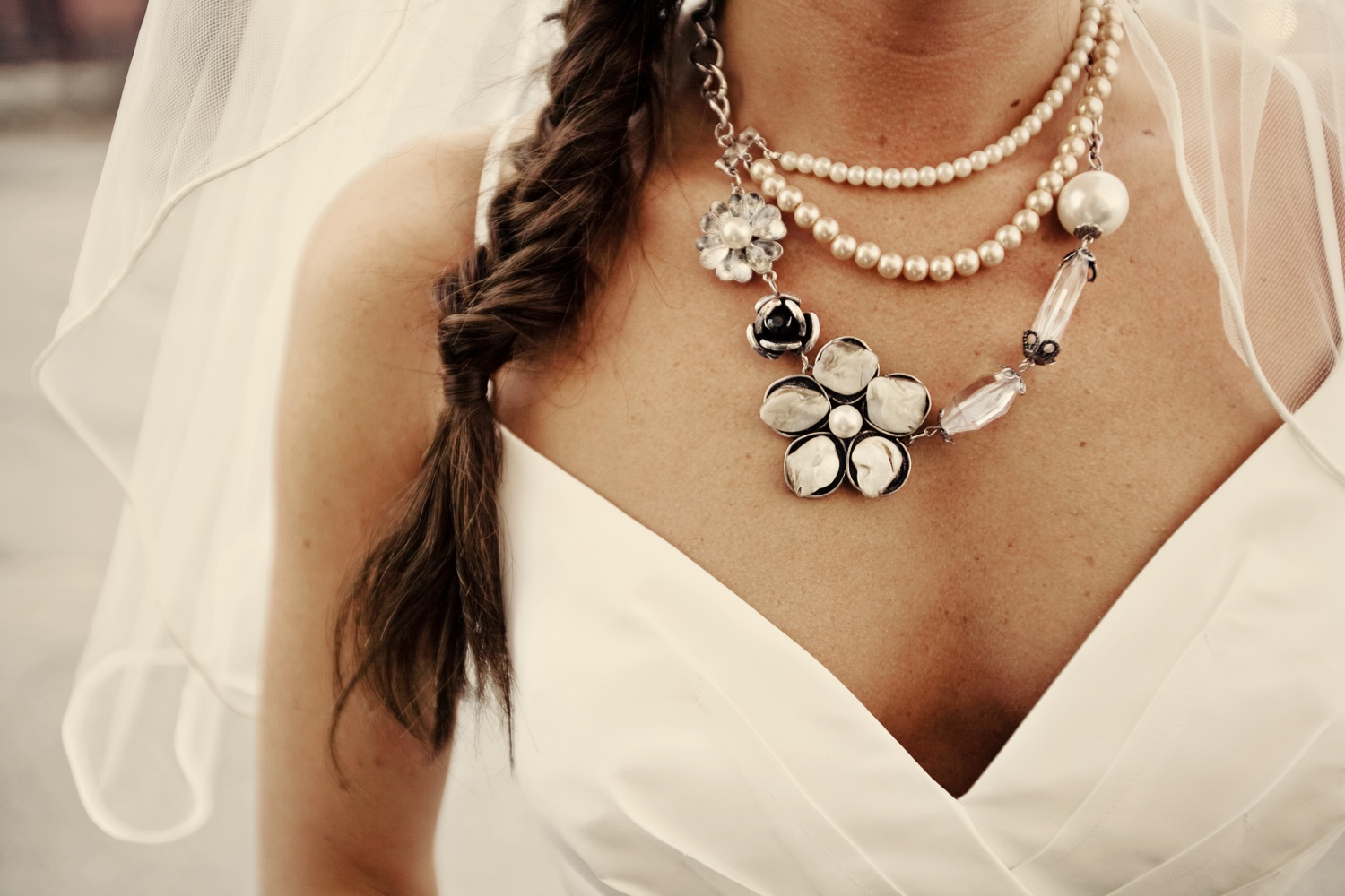 Brides of adelaide magazine statement necklaces for Back necklace for wedding dress