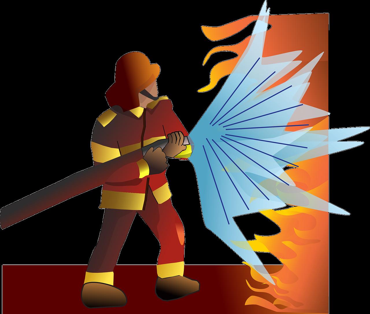 Gambar Kartun Profesi Pemadam Kebakaran