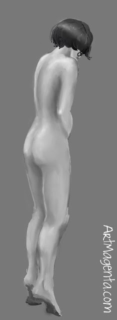 Difficult pose. Figure Drawing from ArtMagenta.com