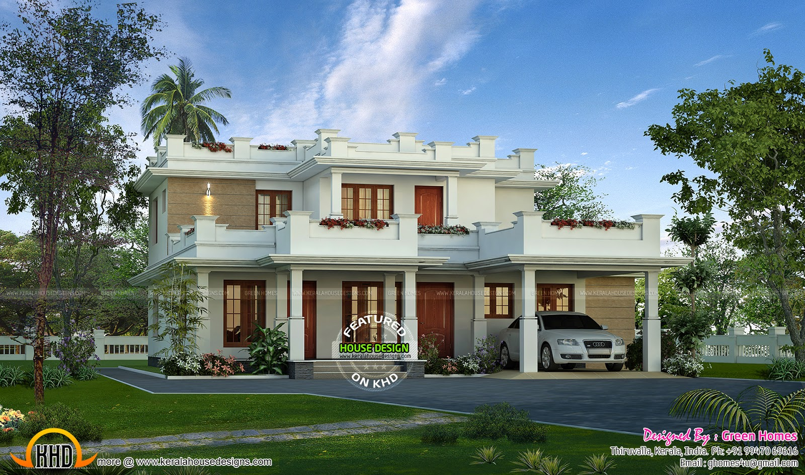 2450 Sq Ft Beautiful Modern Flat Roof Kerala Home Design