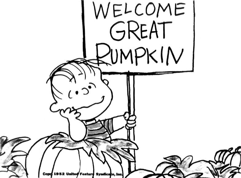 linus great pumpkin coloring pages - photo#17
