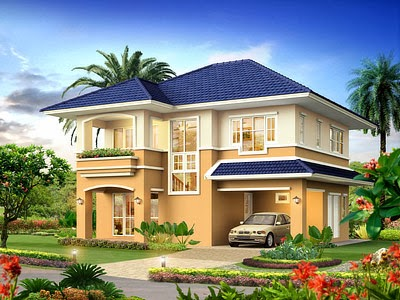 Two Story Small House Three Bed Room Plan