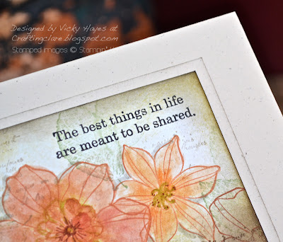 Close up of sentiment from Life Shared by Stampin' Up