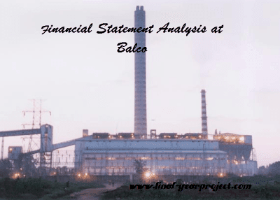 Financial Statement Analysis at Balco