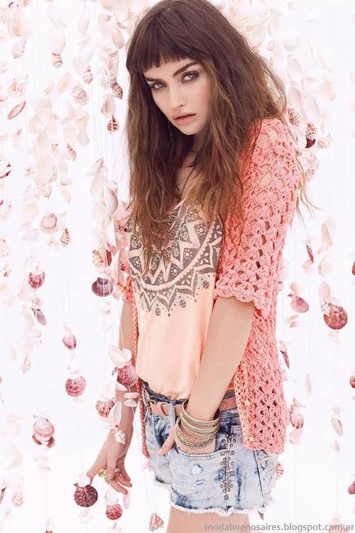 Moda tejidos 2014. Sweet primavera verano 2014.