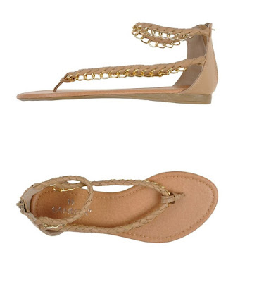 tantra brown flat sandals with chains