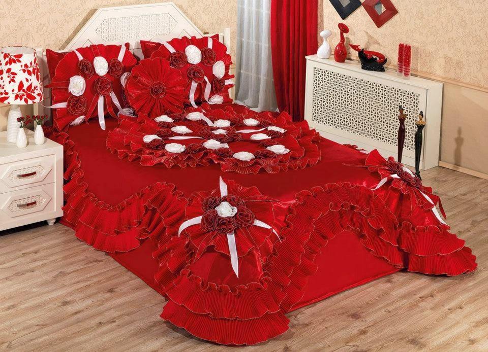 kırmızı renk yatak örtüleri imalattan satış merkezi