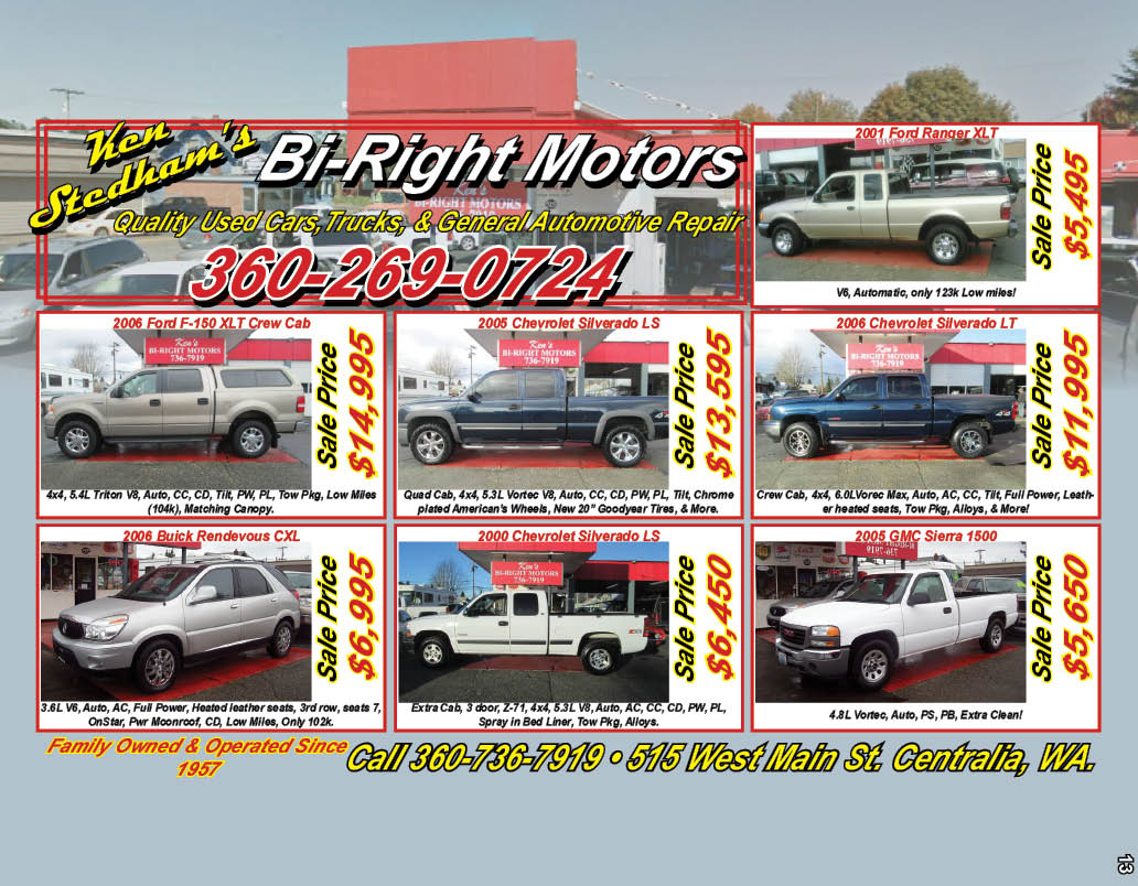 Ken Stedham's Bi-Right Motors Family Owned & Operated Since 1957!!