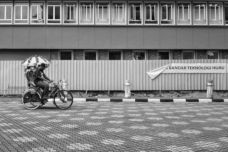 Beca roda tiga, trishaw, bandar Melaka, mesra alam, teknologi hijau